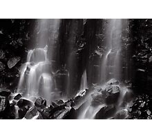 Mungalli Falls in Black & White Photographic Print