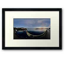 Dawn Calm at Foyle Marina - Rectangular Framed Print
