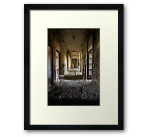 asylum hallway Framed Print