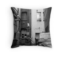'love' in an alley Throw Pillow