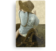 Too young to be a cowboy... Free State, South Africa Metal Print