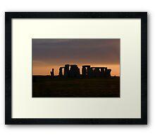 Stone Henge Framed Print