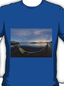 Dawn Calm at Foyle Marina - Rectangular T-Shirt