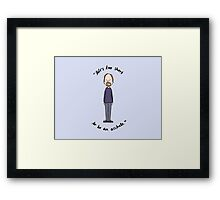 Louis CK Quote Framed Print