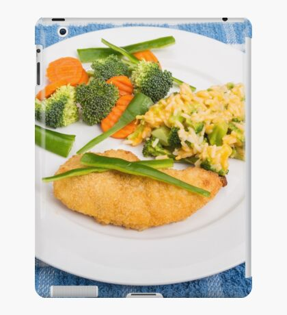 Colorful Meal of Chicken Rice and Vegetables iPad Case/Skin
