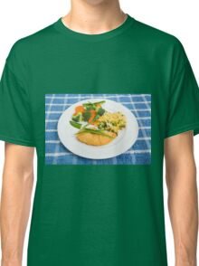 Colorful Meal of Chicken Rice and Vegetables Classic T-Shirt