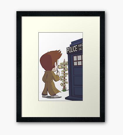 A Doctor's Decision Framed Print
