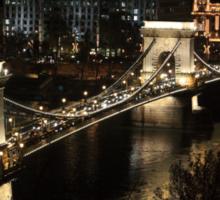 Chain bridge of Budapest at night Sticker