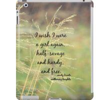 Emily Bronte Girl Free iPad Case/Skin