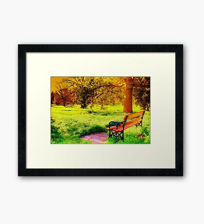 Enjoy Your Time Framed Print