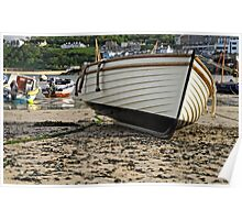 Boat On The Beach, St Ives Harbour Poster