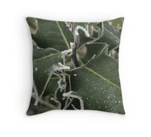 White Holly Throw Pillow