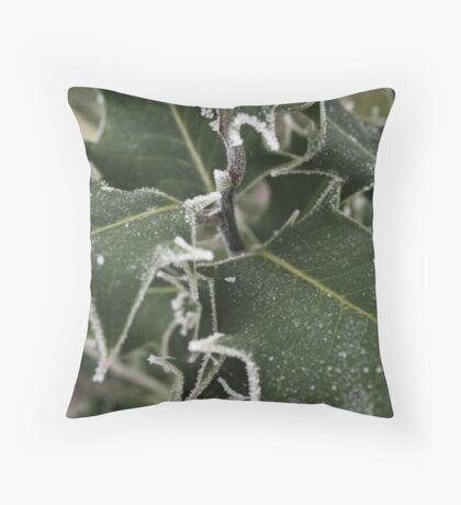 White Holly Throw Pillow