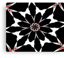 Bizarre Red Black and White Pattern 4 Canvas Print