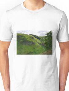 Cave Dale from Peveril Castle Unisex T-Shirt