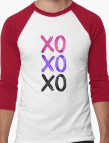 Beautiful XO's  Men's Baseball ¾ T-Shirt