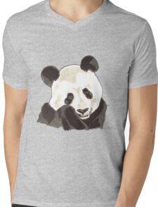 Spirit of Panda - Shamanic Art Mens V-Neck T-Shirt