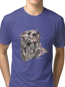 Spirit of Otter - Shamanic Art Tri-blend T-Shirt