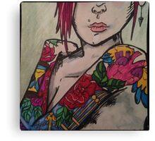 Unique tattoos and attitudes Canvas Print