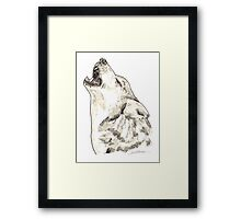 Spirit of Wolf - Shamanic Art Framed Print