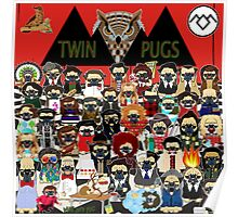 TWIN PUGS Poster
