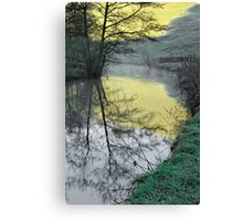 Reflections of Fishpond Bank Canvas Print