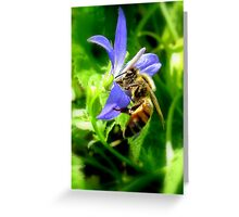 Bee & Flower Greeting Card