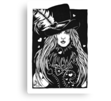 Blacklights : Stevie Canvas Print