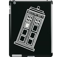 Black and white TARDIS (tilted) iPad Case/Skin