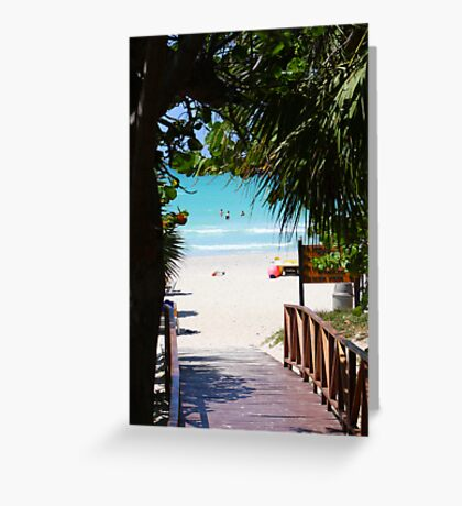 The bridge to paradise (Cuba) Greeting Card
