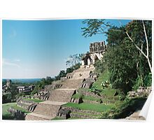 Pyramid in Palenque Poster