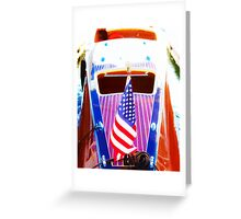 Classic Wooden Boat Abstract Greeting Card