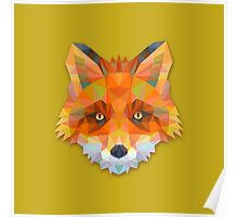 Abstract Fox Poster