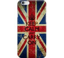 Square Grunge Keep Calm and Carry On Union Jack iPhone Case/Skin