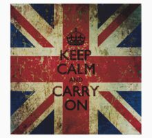 Square Grunge Keep Calm and Carry On Union Jack Kids Clothes