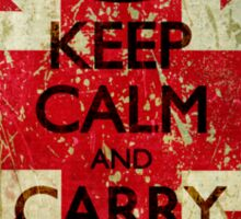 Square Grunge Keep Calm and Carry On Union Jack Sticker