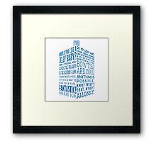 The Doctor's Tardis Framed Print
