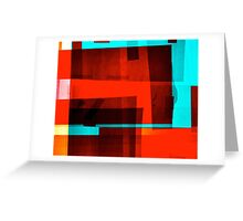 Red Layer Greeting Card