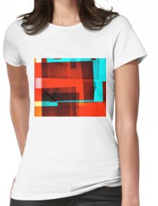 Red Layer Womens Fitted T-Shirt