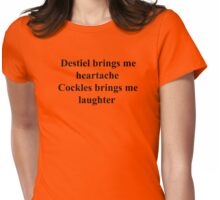 Destiel vs Cockles Womens Fitted T-Shirt