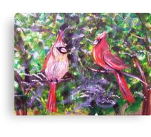 Kentucky Cardinals by Gretchen Smith Canvas Print