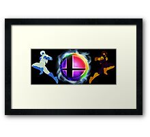 Smash logo and Falcon Knee of Justice Framed Print