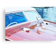 Wooden Boat Abstract Canvas Print