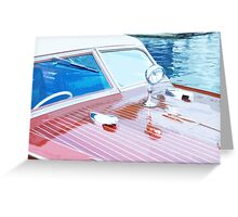 Wooden Boat Abstract Greeting Card
