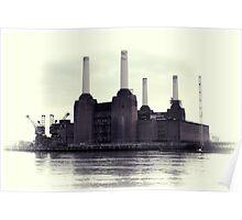 Battersea Power Station Vintage Poster