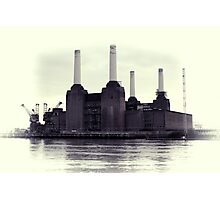 Battersea Power Station Vintage Photographic Print
