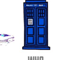 Superwholock design (impala, TARDIS, 221B) Sticker
