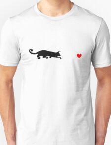 Stalking Heart Cat T-Shirt