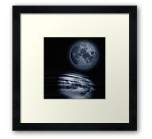 Moon and Water Framed Print