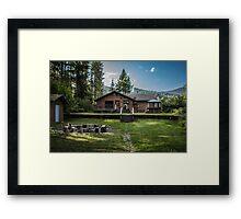 Cedar Cabin on the Creek Framed Print